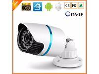 CCTV HD 1080P IP Camera 2MP Indoor Outdoor Bullet Security 24 IR LED Lens