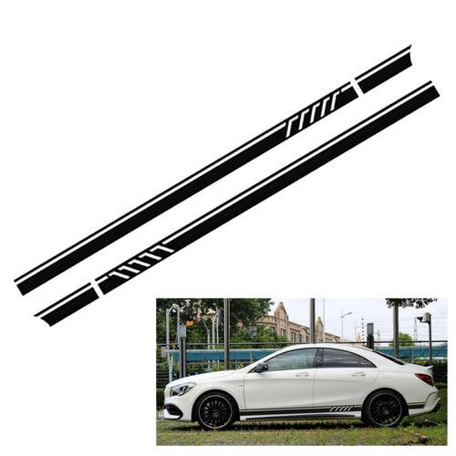 2PCS 220cm Auto Car Side Body Bumper Long Stripe Vinyl Decals Decoration Sticker