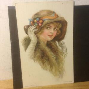 Edward Gross Co. New York Antiques Postcard Girl