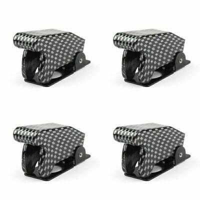 4pcs Toggle Switch Boot Plastic Safety Flip Cover Cap 12mm Carbon Fiber