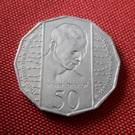 "1995 Australia 50c - 1945 WW2 Edward ""Weary"" Dunlop coin"