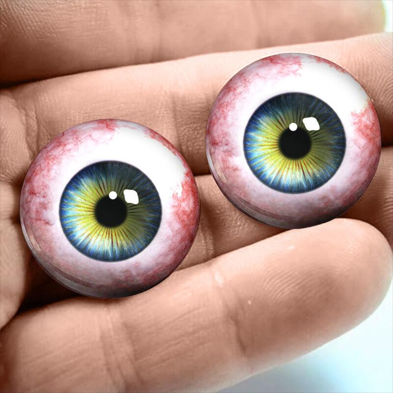 20mm Human Taxidermy Blue Glass Eyeballs Doll Jewelry Halloween Supply Eyes