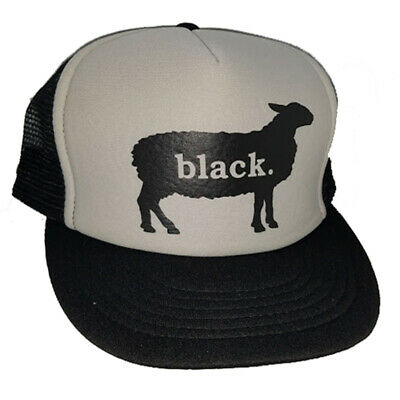 Black Sheep Snapback Mesh Trucker Hat Cap Black Gray](Sheep Hat)