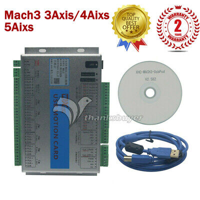 Mach3 346 Axis Motion Controller Card Usb Cnc Breakout Board With Software