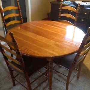 Cherry Wood Dining Table set.  - $300.00 or Best Offer