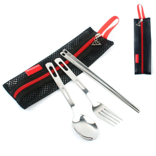 3 Pieces a Set Portable Tableware Flatware Spoons Forks For