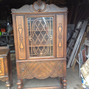 Antique China Cabinet and Small Hutch