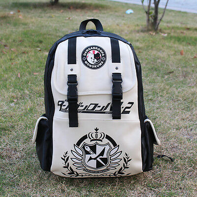 Anime Dangan Ronpa Danganronpa Monokuma Unisex School Book Backpack Shoulder Bag