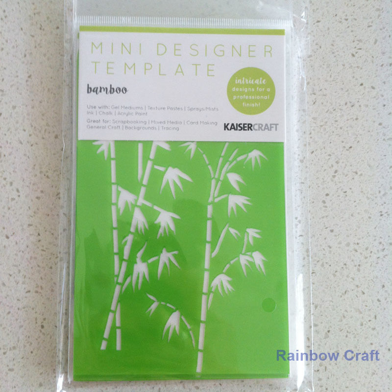 Kaisercraft Mini Designer Templates Stencils Blossom Christmas Holly Leaves - Bamboo