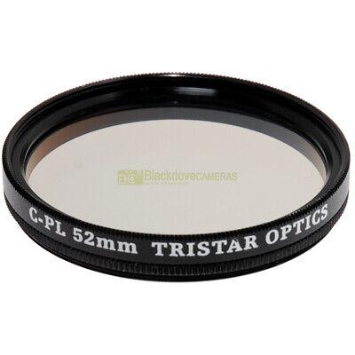 52mm. filtro Polarizzatore Tristar Optics per obiettivi. Polarizer filter M52.
