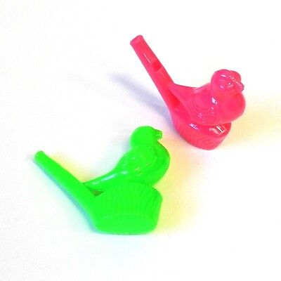 Warbling Bird Whistle (2 x WARBLING WATER BIRD WHISTLE TOY GIRL BOYGIFT XMAS CHRISTMAS STOCKING)