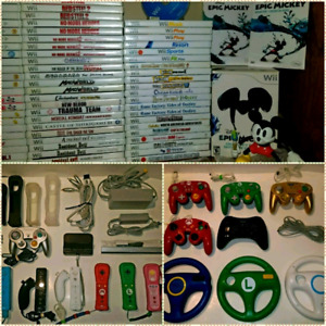 NINTENDO Wii & Wii U / GAMES & ACCESSORIES + U.S AMIIBOS