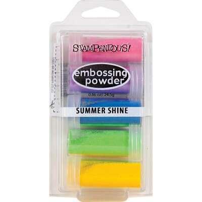 Stampendous Embossing Powder 5/Pkg .86oz Summer Shine 744019217430