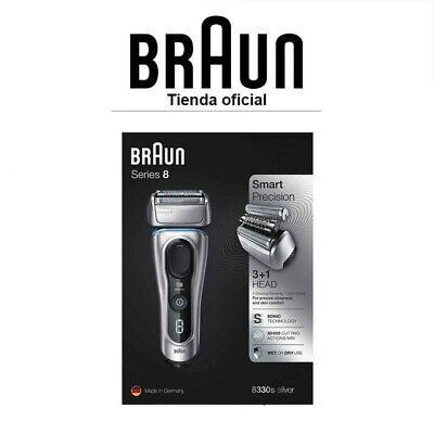 Afeitadora Eléctrica Hombre Braun Series 8 8330s Wet&Dry - 4 elementos de...