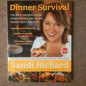 """Sandi Richard """"Dinner Survival"""" cookbook"""