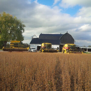 2016 corn and soybean harvesting