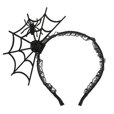 Halloween Spider Web Hair (Halloween Cosplay Spider Hair Hoop Web Headband Headdress Black)