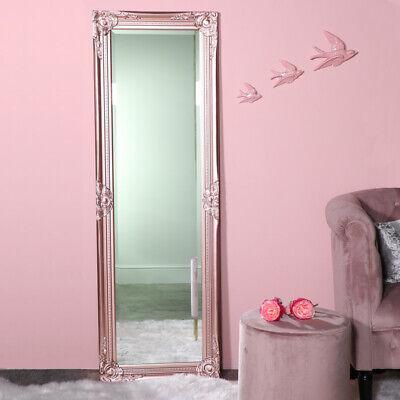 Alto Fino Rosa Espejo de Pared Retro Vintage Elegante Francés Adorno Dormitorio,