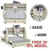 400W 3 Axis 3040 CNC Router Engraver Milling Machine Engraving Drilling Desktop/