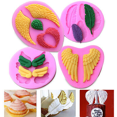 3D Baby Angel Wing Silicone Fondant Mold Cake Decorating Sugarcraft Baking Mould - Angel Wing Decorations