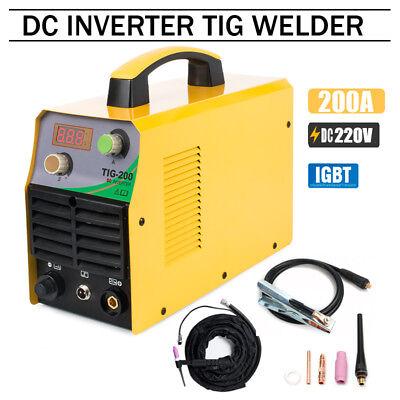 Tig200 220v Tig Welder 200amp Dc Inverter Igbt Argon Tig Welding Machine