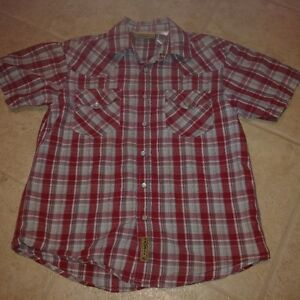 size 6/7 Boys Short sleeve Snap up Dress shirt