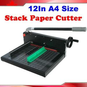 Open Box! Black A4 Size Guillotine Stack Paper Cutter/ Trimmer Heavy Duty 026411