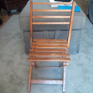 Vintage wooden folding child's chair, circa 1930's