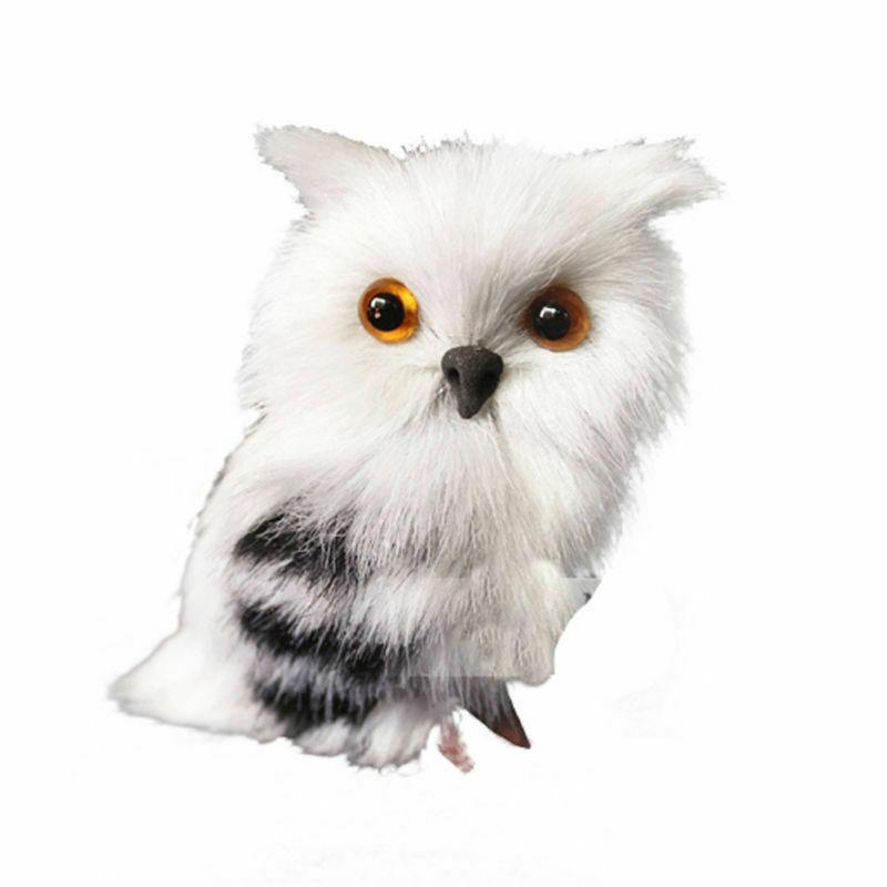 Artificial Lifelike Fur Plush Owl Christmas Tree Hanging Ornament Party Decor
