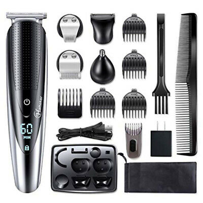Hatteker Beard Trimmer Body Mustache Hair Clippers Nose Ear Grooming Trimmer Kit