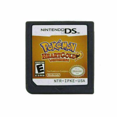 US Game Cartridge Nintendo 3DS NDSI NDS Lite Card Pokemon HeartGold USA VERSION