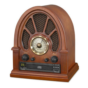 Victrola Vintage Wooden AM/FM Radio with Bluetooth and CD Player