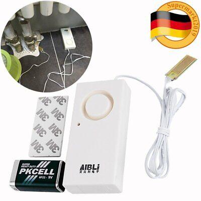 9V Wassermelder Wasserleckdetektor Wasser Alarm Wasserwächter Wassersensor Weiß