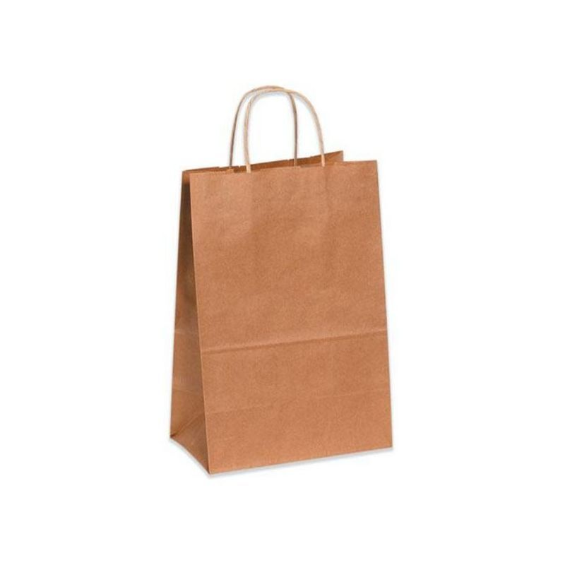 "Duro Shopping Bag with Rope Handle, Kraft, 14"" x 10"" x 15.75"""