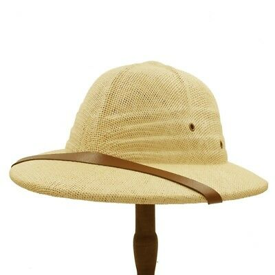 Zoo Keeper Costume Adults (Adults Safari Helmet Hat Pith Explorer Zoo Keeper Straw Hats Fancy Dress)