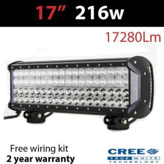 "17"" CREE 216w Led Quad Row Lightbar (inc wiring kit Craigie Joondalup Area Preview"