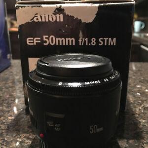 Canon 50mm f1.8 STM Lens - $70