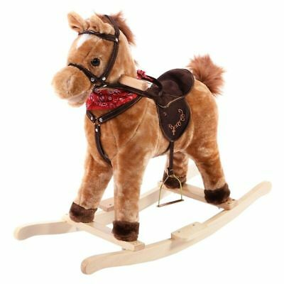 Kid Rocking Horse Rider Toy Best Gifts For Toddler Kids Brown
