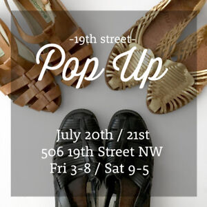 VINTAGE SALE, POP-UP SHOP, JULY 20TH, 21ST, 19th STREET NW