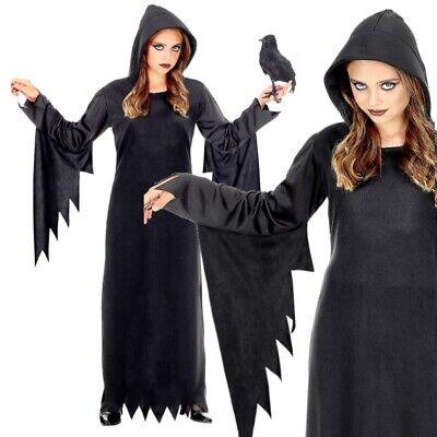 Dunkle Königin Kinder Kostüm schwarz Vampir Hexe Gothic Mädchen KLEID MIT - Gothic Mädchen Kostüm