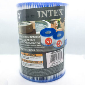 NEW Intex Type S1 Filter Cartridge for PureSpa Twin Pack