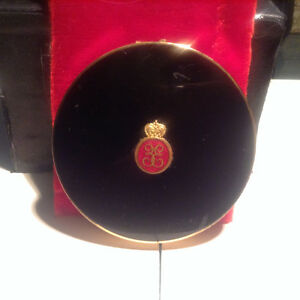 Vintage Stratton Brass Compact Case  Made In England