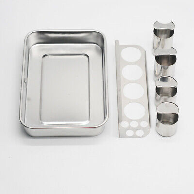 Dental Tray With 4 Bottle Lab Instrument Stainless Steel Instruments Storage Box