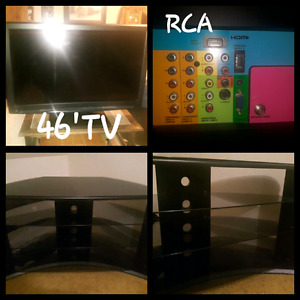 """46""""RCA TV  WITH TV STAND"""
