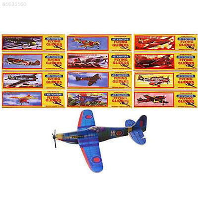 0185 Glider Flying Planes 12 Flying Plane Gliders Toys 12 Game Bag Party Kids