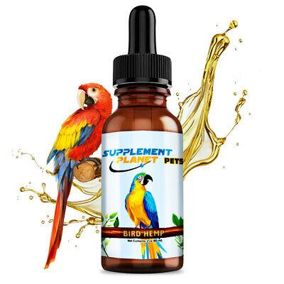 Organic Hemp Oil for Bird Reduce Destructive Behavior & Feather Plucking 2 Oz