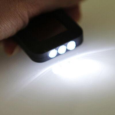 HOT Mini Outdoor Portable Solar Power 3 LED Lamp Flashlight Torch Keychain