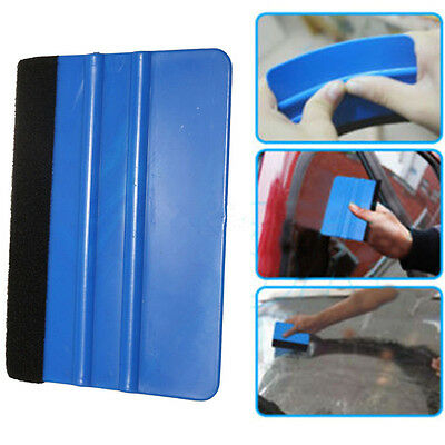 Car Auto Blue Vinyl Wrap Applicator Soft Felt Edge Plastic Squeegee Tool Scraper