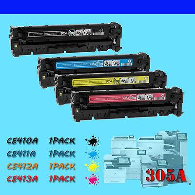 4PK 305A CE410A CE411A CE412A CE413A Toner Set for HP LaserJet Pro 300 400