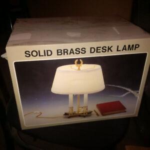 Solid Brass Desk Lamp